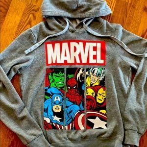 Marvel sweatshirt with hood size m